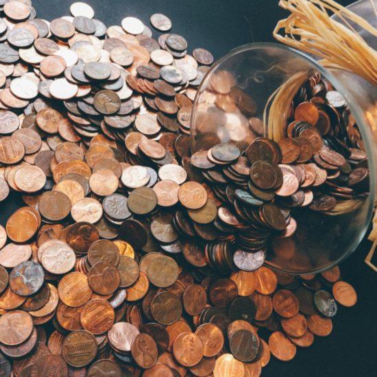 Money coins jar festive